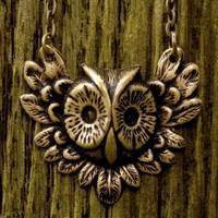 Brass Feathery Owl - $18.50 : RagTraderVintage.com, Handmade Indie Retro Accessories
