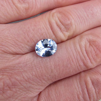Pale Blue Sapphire 10 x 8 Oval AAA Quality Gemstone for 14K Gold Engagement Ring September Birthstone