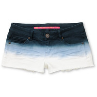 Love, Fire Blue Dip Dye Ombre Cut Off Shorts
