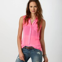 AE Pleated Chiffon Shirt | American Eagle Outfitters
