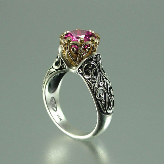 The ENCHANTED PRINCESS 14K gold Tourmaline by WingedLion on Etsy
