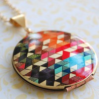 The Color Study II Locket - Vintage - Verabel FOX Collaboration