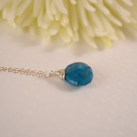 Necklace Blue Azurite Sterling Silver by BelleReveDesigns on Etsy