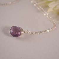 Necklace Purple Amethyst Sterling Silver by BelleReveDesigns