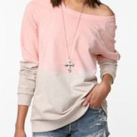 Mouchette Dip Dye Pullover Sweatshirt