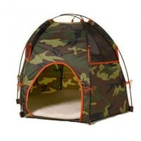 Wagwear Dog Tee-Pee Hound Lounge in Camo