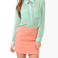 Chiffon Pocket Blouse | FOREVER 21 - 2000026824