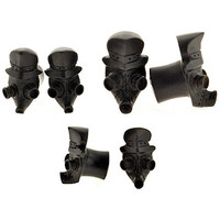 Urban Star Organics: Pair of Arang Wood Gas Mask Plugs - PWA56