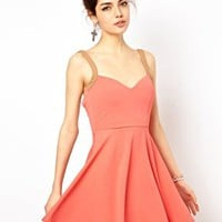 Sweetheart Neckline Skater Dress