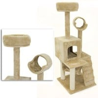 "Amazon.com: Deluxe 52"" Cat Tower Tree Condo Scratcher Furniture Kitten House Hammock New: Pet Supplies"