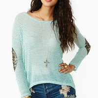Striped Patch Knit