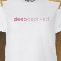 Personalized mom sleep deprived t-shirt perfect for that new mom in your life