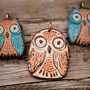 Polymer Clay Owl Pendants by Distlefunk2 on Etsy