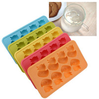 Silicone Duck Shaped Maker Ice Freeze Cute Duck Jelly Cube Chocolate Tray Mold