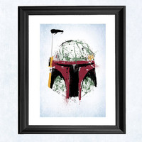 Boba Fett art print by purplecactusdesign on Etsy