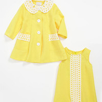 Iris & Ivy Shift Dress & Jacket (Toddler) | Nordstrom