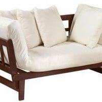 White Mission-Style Convertible Lounge - Love Seats - Living Room Furniture - Furniture | HomeDecorators.com