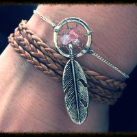 Custom native american dream catcher metal by ChildrenofHarmony