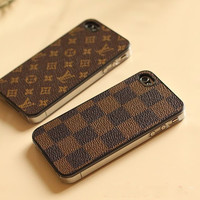 handmade Leather iphone 5 case iphone 4 case iphone by StellaCheng