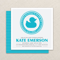 Boy Baby Shower Invitation  Duck baby shower by EllisonReed