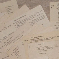 Library Catalog Cards Vintage Ephemera by VintageCarolina on Etsy