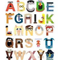 Muppet Alphabet Art Print by Mike Boon | Society6