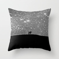 Under the Silver Stars Throw Pillow by SSC Photography | Society6