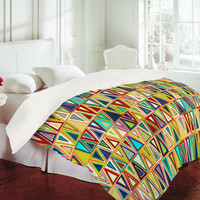 DENY Designs Home Accessories | Sharon Turner Tangerine Triangles Duvet Cover