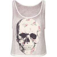 FULL TILT Floral Skull Womens Tank 212652957 | Graphic Tees &amp; Tanks | Tillys.com