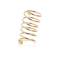 Gold tone metal wrap around arrow ring