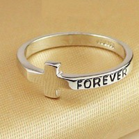 Stylish Cross Shape Forever Ring