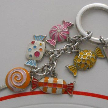 Authentic Coach Multi Sweets Candy KeyChain Key Ring FOB F92096