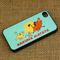 hakuna matata - iPhone 4 case , iphone 5 case , ipod touch 4 / 5 case, samsung galaxy S3 / S2 case in black or white