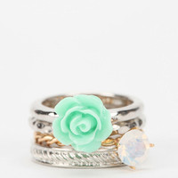 Urban Outfitters - Rosewater Stackable Ring - Set of 4