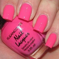 1 New Kleancolor FASHION Neon Pink Nail Polish Art Varnish Color DESIGN