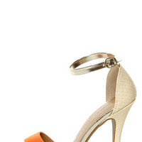 Chinese Laundry Lucky Charm Orange Multi High Heel Sandals