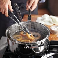 All-Clad d5 Stainless Steel 6-Qt. Deep Saut? Pan with Fry Basket & Tongs