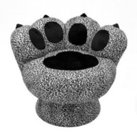 Amazon.com: LumiSource Paw Chair, Snow Leopard: Home &amp; Kitchen