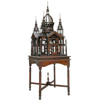 1STDIBS.COM - Ed Hardy San Francisco - AN ENGLISH COLONIAL MAHOGANY BIRDCAGE ON STAND