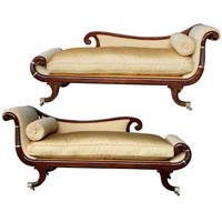 1STDIBS.COM - epoca - A Curvaceous Pair of English William IV Faux Rosewood Recamiers