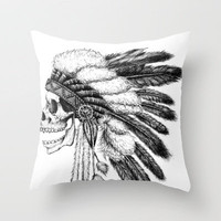 Native American Throw Pillow by Motohiro NEZU | Society6
