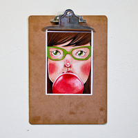 $10.00 Bubble Gum Kathleen  5x7 Print by dannybrito on Etsy