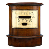 1STDIBS.COM - MS Rau Antiques - Hotel Mahogany & Brass Letter and Key Box