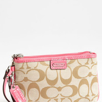 COACH &#x27;Signature - Small&#x27; Wristlet | Nordstrom