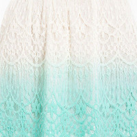 Ombre Lace Crochet Skirt $37