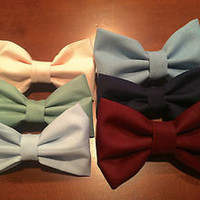 Adorable hair bows Burgandy, light Green, Blue, and Pink