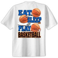 Eat Sleep Play Basketball T Shirt