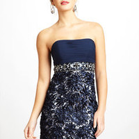 ideeli | SUE WONG Short Jeweled Strapless Dress