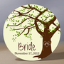 Personalized Pocket Mirror - Tree Bride 3.5 inch Pocket Mirror with Gift Bag - Weddings