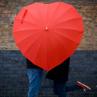 Heart Shaped Umbrella at Firebox.com